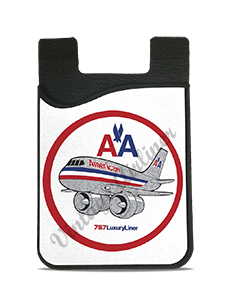 American Airlines 757 Bag Sticker Card Caddy