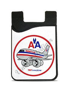 American Airlines 767 Bag Sticker Card Caddy