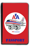 AA 757 Old Livery Bag Sticker Passport Case