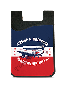 American Airlines 1930's Hindenburg Bag Sticker Card Caddy