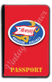 AA 1950's Mercury Bag Sticker Passport Case