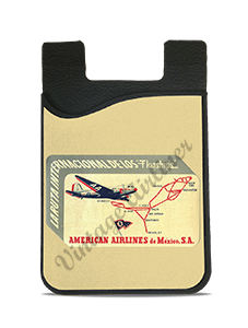American Airlines 1940's Mexico Bag Sticker Card Caddy