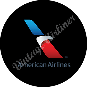 American Airlines 2013 Logo Round Mousepad