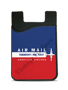 American Airlines Air Mail Sticker Card Caddy