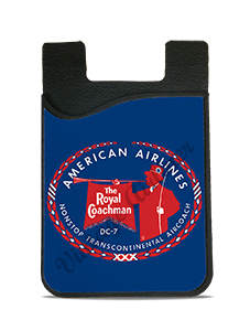 American Airlines 1950's Royal Coachman Bag Sticker Card Caddy