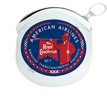 American Airlines 1950's Royal Coachman Round Coin Purse