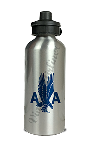 American Airlines 1940's Eagle Aluminum Water Bottle