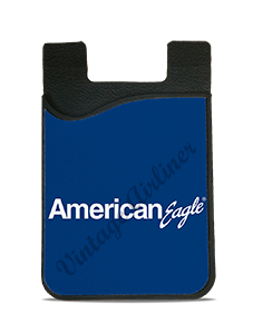 American Eagle White & Blue Logo Card Caddy