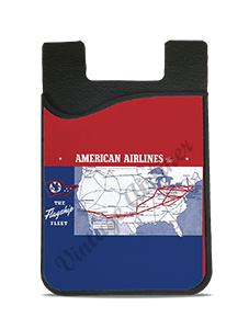 American Airlines Flagship Fleet Route Map Card Caddy