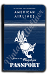 American Airlines 1944 Timetable Cover Passport Case