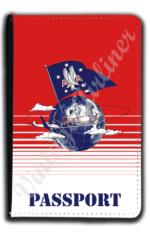 AA 1947 Ticket Jacket Passport Case