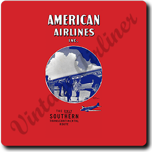 AA 1930's Timetable Cover Square Coaster