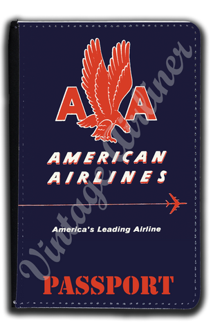 AA 1940's Timetable Cover Passport Case