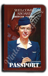 AA 1940's Flight Attendant Passport Case