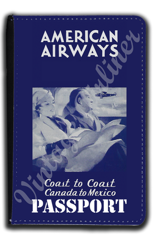 AA 1930's Blue Timetable Cover Passport Case