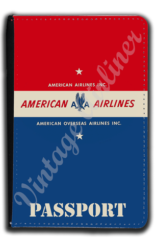 AA 1940's AOA Bag Sticker Passport Case