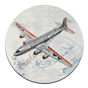 AA Flagship DC-6 Round Mousepad