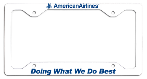 American Airlines - Doing What We Do Best - w/AA Eagle License Plate Frame