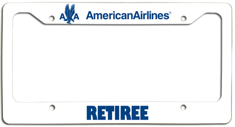 American Airlines Retiree with AA Eagle License Plate Frame