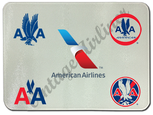American Airlines Historical Logo's Glass Cutting Board