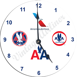 AA Historical Logos Wall Clock