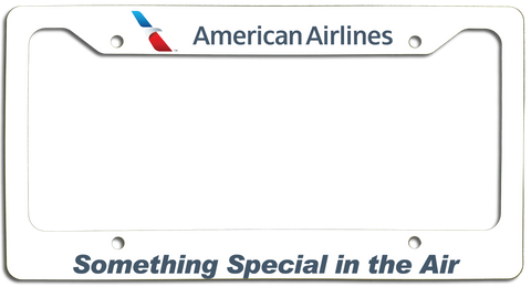 American Airlines - Something Special In the Air - with New AA Logo License Plate Frame