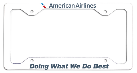 American Airlines - Doing What We Do Best - with New AA Logo License Plate Frame