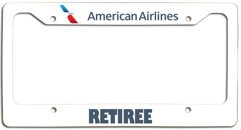 American Airlines Retiree with New AA Logo License Plate Frame
