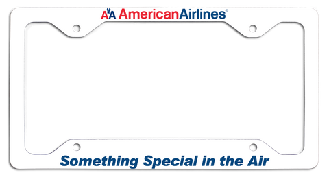 American Airlines - Something Special In the Air - with Old AA Logo License Plate Frame