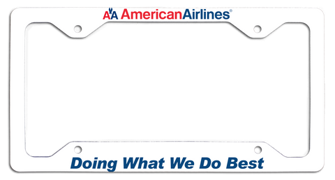 American Airlines - Doing What We Do Best - with Old AA Logo License Plate Frame
