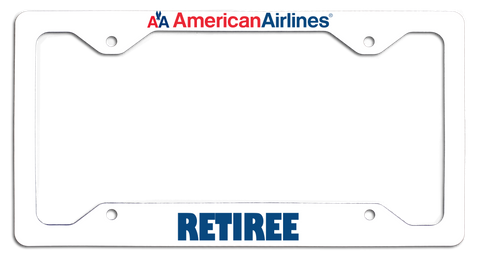 American Airlines Retiree with Old AA Logo License Plate Frame