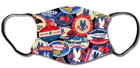 American Airlines Vintage Collage Face Mask