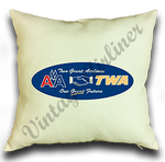 American Airlines/TWA Merger Linen Pillow Case Cover