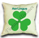 Aer Lingus Bag Sticker Linen Pillow Case Cover
