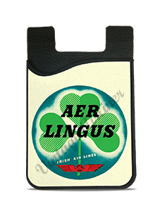 Aer Lingus Irish Air Lines Vintage Bag Sticker Card Caddy