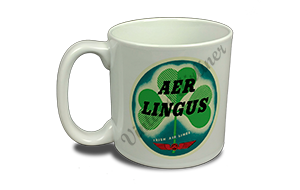 Aer Lingus Vintage Bag Sticker 20 oz. Coffee Mug