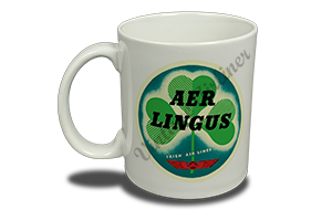 Aer Lingus Vintage Bag Sticker 11 oz. Coffee Mug