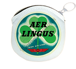 Aer Lingus Vintage Bag Sticker Round Coin Purse