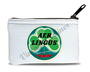 Aer Lingus Vintage Bag Sticker Rectangular Coin Purse