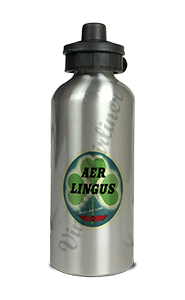 Aer Lingus Vintage Bag Sticker Aluminum Water Bottle