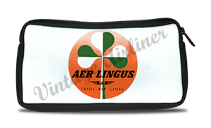 Aer Lingus Irish Airlines Green & White Shamrock Bag Sticker Travel Pouch