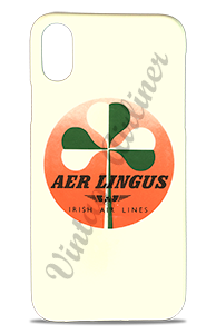 Aer Lingus Green & White Shamrock Vintage Bag Sticker Phone Case