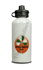 Aer Lingus Green and White Shamrock Bag Sticker Aluminum Water Bottle