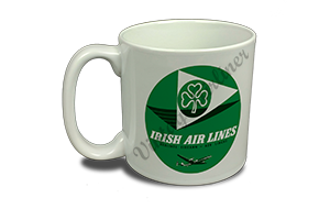 Aer Lingus 1950's Vintage Bag Sticker 20 oz. Coffee Mug
