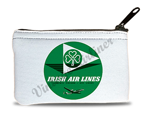 Aer Lingus 1950's Vintage Bag Sticker Rectangular Coin Purse