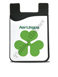 Aer Lingus Green Shamrock Logo Card Caddy