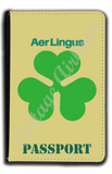 Aer Lingus Green Shamrock Logo Passport Case