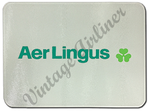 Aer Lingus Green Logo Glass Cutting Board