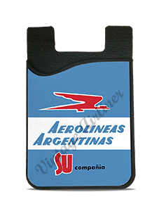 Aerolineas Argentinas 1960's Vintage Bag Sticker Card Caddy