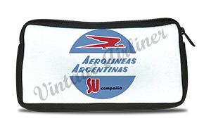 Aerolineas Argentinas 1960's Vintage Bag Sticker Travel Pouch